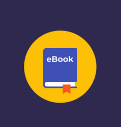 Ebook flat icon vector
