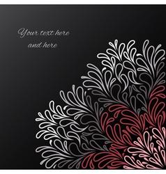 Elegant invitation cards vector image