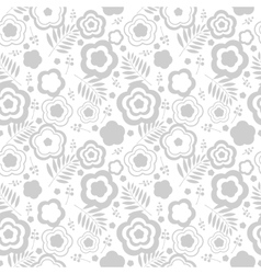 Elegant seamless pattern with silver flowers vector image