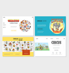 flat circus websites set vector image