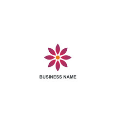 flower beauty geometry business logo vector image