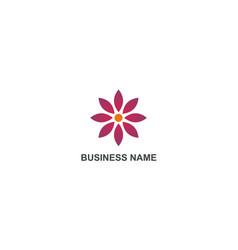Flower beauty geometry business logo vector
