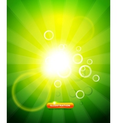 Greeen shiny background vector image