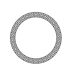 Greek circle pattern border round vector