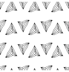 hand drawn seamless pattern with unusual triangles vector image