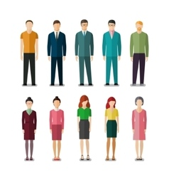 Icons of businessmen and businesswomen vector