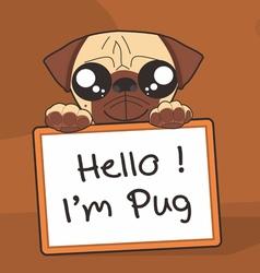 Im Pug vector image