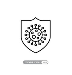 Immune system concept simple colored icon vector