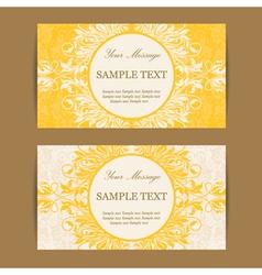 Invitation cards set vector