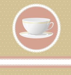 Invitation for tea time vector
