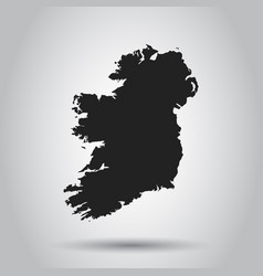ireland map black icon on white background vector image