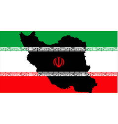 islamic republic of iran with flag inside map vector image