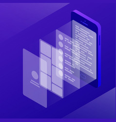 Isometric app development vector