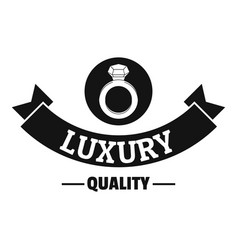 jewelry quality logo simple black style vector image