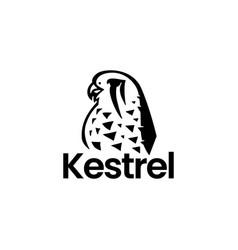 kestrel bird logo icon vector image