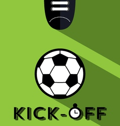 Kick-off vector image