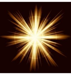 light burst fireworks lens vector image
