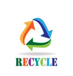 Logo recycle arrows business card symbol reduce vector