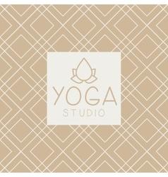 Lotucs And Text Yoga Studio Design Card vector
