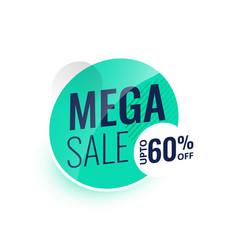 Mega sale modern label or banner design vector