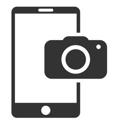 Mobile camera flat icon vector
