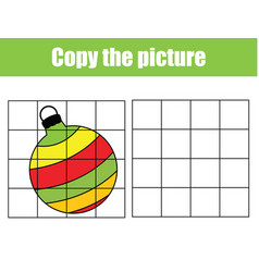 New year bauble draw grid copy picture vector