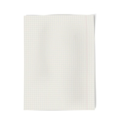 Notebook squared paper isolated on white vector