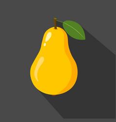 Pear cartoon flat icondark background vector