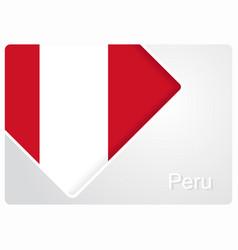 Peruvian flag design background vector