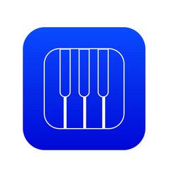Piano keys icon blue vector