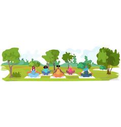 pregnant women doing yoga fitness exercises vector image