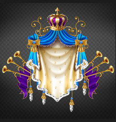 royal dynasty house emblem 3d realistic vector image