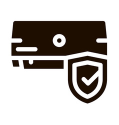 Safeguard conditioner system icon vector