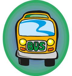 school bus eps 10 vector image