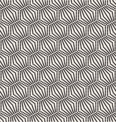 Seamless monochrome pattern geometric with circle vector