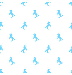 seamless pattern with active horses vector image