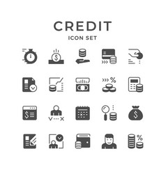 Set icons of credit vector