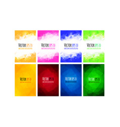 set of colorful business background vector image