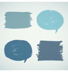 Set of grunge speak bubbles vector image