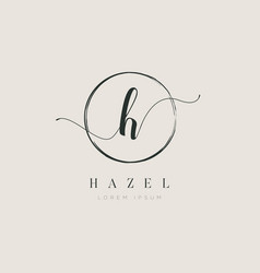 simple elegant initial letter type h logo sign vector image