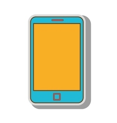 smartphone phone call screen mobile vector image