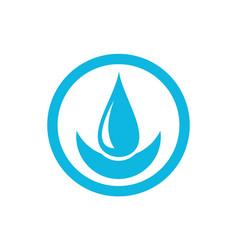 smile water logo icon concept design vector image