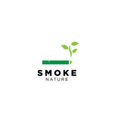 Smoke nature logo design vector
