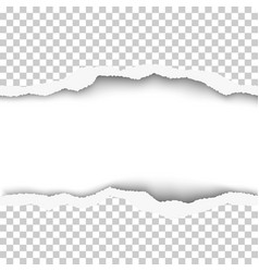 snatched middle of transparent paper background vector image