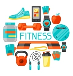 Sports and healthy lifestyle background with vector