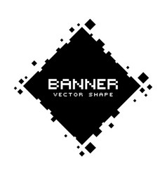 square pixel banners blank frames ready for your vector image