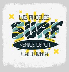 Surf venice beach los angeles california desig vector