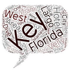 The Florida Keys text background wordcloud concept vector image