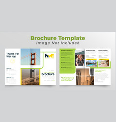 Travelling and adventural business bifold brochure vector