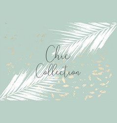 Trendy chic banner design with gold colored foil vector